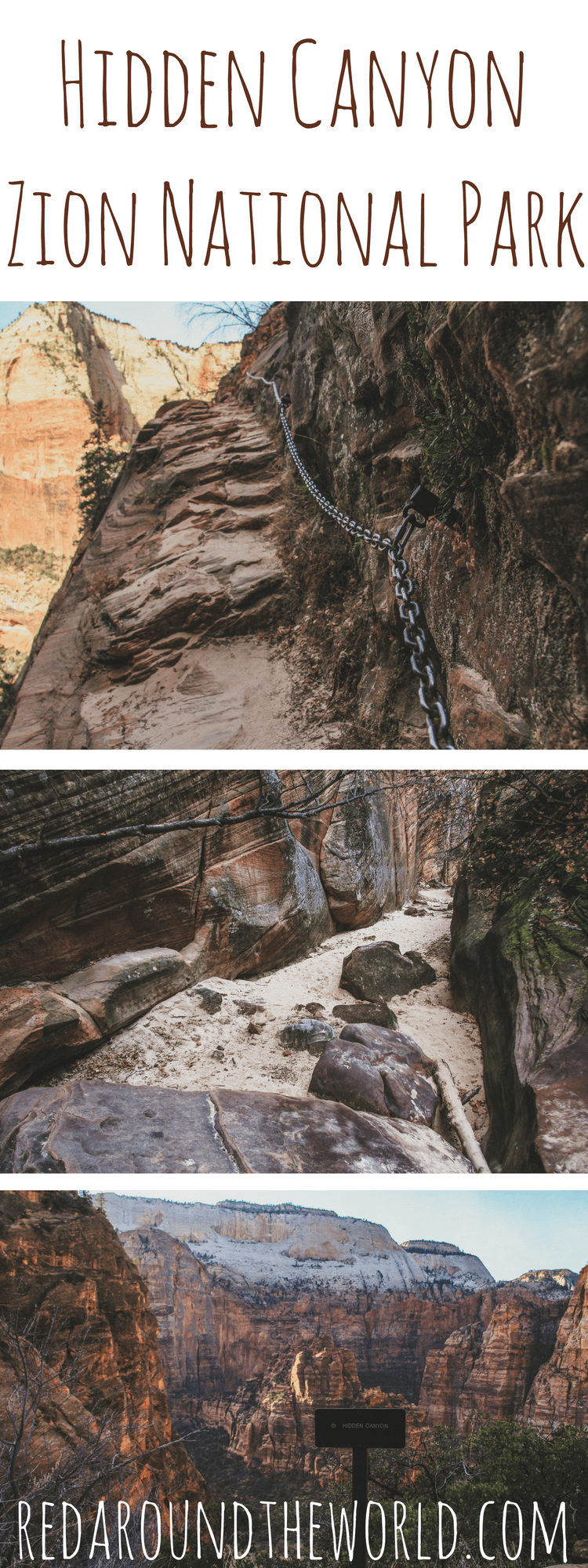 Hike into Hidden Canyon in Zion National Park in Utah