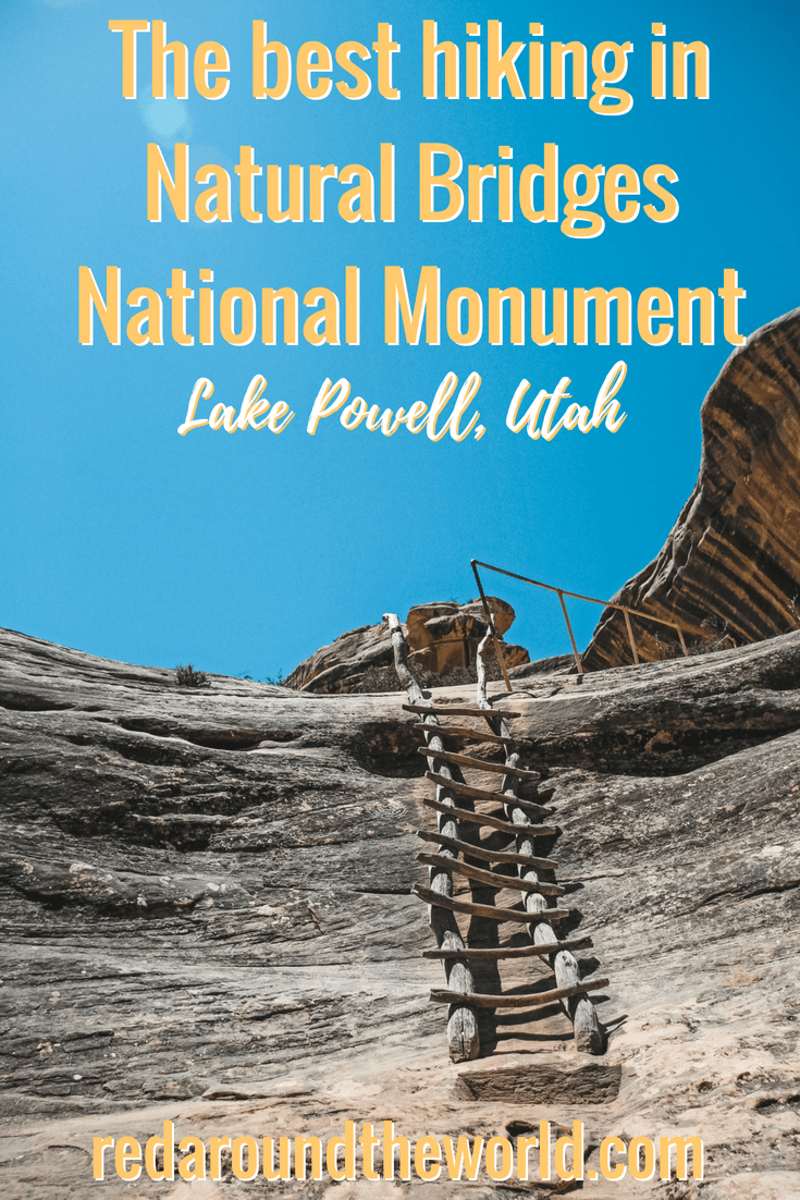 Natural Bridges National Monument near Lake Powell in Utah has some amazing hiking. You can easily hike down to Sipapu Bridge as well as two others. Natural Bridges is a great option for hiking near Blanding, Utah as well on scenic highway 95. #hiking #utah #roadtrip #travel #usa #southwestusa #naturalbridges