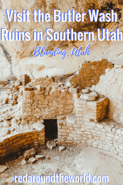 Want to see cliff dwelling ruins in Southern Utah? The Butler Wash Ruins are the perfect stop stop. They are easily accessible from Blanding, Utah on Highway 95. #utah #ruins #usaroadtrip #utahroadtrip #blandingutah #utahhiking #southernutah