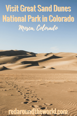 There is a lot of hiking at Great Sand Dunes National Park in Colorado. It's a national park unlike any other. Winter in Great Sand Dunes is perfect. #colorado #nationalpark #hiking #usa #travel #roadtrip #sanddunes