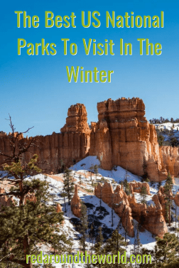 Most people think of national parks and road trips in the summer, but there are tons of awesome national parks to visit in the winter in every climate.