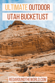 Here is the ultimate outdoor bucket list for hiking in Utah. It includes the best national and state parks as well as lesser known hikes around Utah. The is the best Utah bucket list.