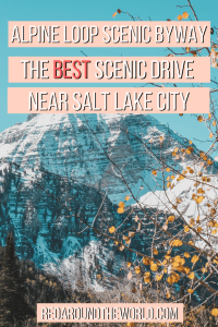 The 20 mile Alpine Loop drive from Provo to American Fork is one of the best places to see fall leaves in Salt Lake City and makes a great afternoon drive.