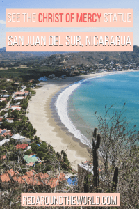 In San Juan del Sur, the Christ of Mercy statue is a landmark that's hard to miss. You can take a taxi or easily walk to the Jesus statue in San Juan del Sur. This is a fun thing to do in San Juan del Sur. Hike to the Jesus statue in San Juan del Sur.