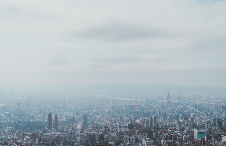view from Taipei 101 observatory Taiwan