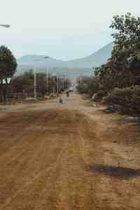 dirt road on isla floreana galapagos islands