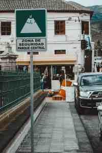 town near riobamba ecuador