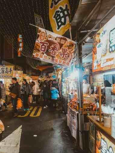 Night markets in Taipei Taiwan