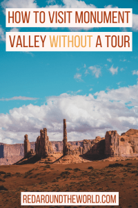 Visiting Monument Valley in Arizona is a southwest USA road trip must-do. Visiting Monument Valley without a tour is a great, affordable way to visit.