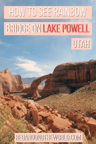 Rainbow Bridge on Lake Powell is a great way to get a taste of the lake and what it has to offer. Hiking to Rainbow Bridge on lake Powell is fun and easy. It's one of the best things to see on Lake Powell in Utah. It's a must-see for a houseboat trip on Lake Powell in Utah.