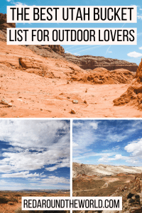 This is the best outdoor utah bucke list. it covers a ton of hikes in southern Utah. It has some of the best hikes in Utah and the best secret hikes in Utah. This is perfect to help plan a Utah road trip and great if you want to do a lot of hiking in Utah.
