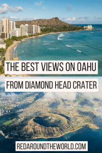 The hike to Diamond Head Crater on Oahu is the most popular hike on the island. It offers great views of Waikiki Beach and the surrounding area. This is one of the best hikes on Oahu, the best things to do on Oahu, and an easy day trip from Honolulu. It's one of the most popular hikes in Hawaii and a great thing to do near Waikiki Beach.