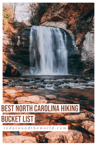 This is the best outdoor North Carolina bucket list. These are the best hikes in North Carolina and the best waterfalls near Asheville. North Carolina Hikes, asheville hikes, asheville north carolina, asheville travel, asheville things to do, north carolina road trip, north carolina things to do, north carolina vacation, raleigh north carolina, cape hatteras, boone north carolina, north carolina waterfalls, asheville waterfalls
