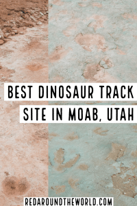 The Mill Canyon dinosaur tracks and Willow Springs dinosaur tracks in Moab are a great way to spend an afternoon in Moab with kids or for dinosaur lovers. Moab Utah | Moab things to do | Moab travel | Moab vacation | Moab hiking | Moab with kids | Moab dinosaur | Moab dinosaur tracks | Utah travel | Utah vacation | Utah hiking | Utah things to do | Utah dinosaur | Utah dinosaur tracks | Utah road trip #Utah #USA #roadtrip