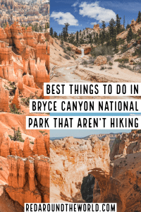 Bryce Canyon National Park in Utah is underrated. These are some of the best things to do in Bryce Canyon that aren't hiking on your next Utah road trip. Utah road trip   Utah national parks   Utah national parks road trip   Utah hiking   Utah travel   Utah vacation   Utah things to do   Bryce Canyon hiking   Bryce Canyon photography   Bryce Canyon things to do   Bryce Canyon Utah   Bryce Canyon national park