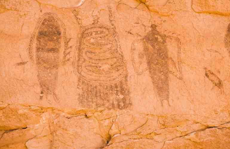 Intestine man pictograph moab utah