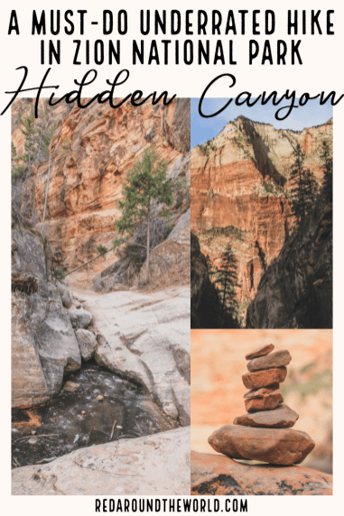 Hidden Canyon in Zion is an underrated hike that often gets overlooked. Admire the views before walking along the cliff and heading into the canyon. Zion National Park hikes | Zion national park | hiking in Zion | Zion Utah | Zion National Park Utah | Utah Zion national park | hikes in Zion | hikes in Zion national park | Utah national parks | Utah road trip | hiking in Utah | best things to do in Utah | Utah road trip itinerary | national parks in Utah | Hidden canyon hike | Hidden canyon zion