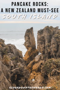 The Punakaiki Pancake Rocks Walk is a must-do on any South Island New Zealand road trip. It's an easy walk and the perfect roadside stop. New Zealand road trip | New Zealand vacation | New Zealand things to do | pancake rocks new zealand | Punakaiki rocks new zealand