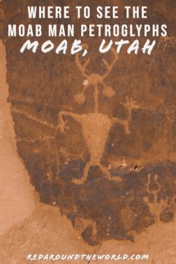 The Moab golf course petroglyphs are some of the easiest petroglyphs to see in Moab. You can see the Moab Man petroglyphs at the gold course rock art site. Utah national parks | Utah road trip | hiking in Utah | best things to do in Utah | Utah hikes | Utah road trip itinerary | national parks in Utah | Moab utah | Moab things to do | rock art in utah | utah travel | Utah things to do | utah vacation | Moab vacation | Moab travel | moab hikes | hiking in moab