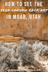 The Sego Canyon Pictographs are an easy afternoon day trip from Moab. They are one of a kind and totally worth the drive. See the Sego Canyon rock art in Moab. Utah national parks | Utah road trip | hiking in Utah | best things to do in Utah | Utah hikes | Utah road trip itinerary | national parks in Utah | Utah rock art | petroglyphs in moab | Moab utah things to do | moab vacation | Moab hikes | hiking in moab