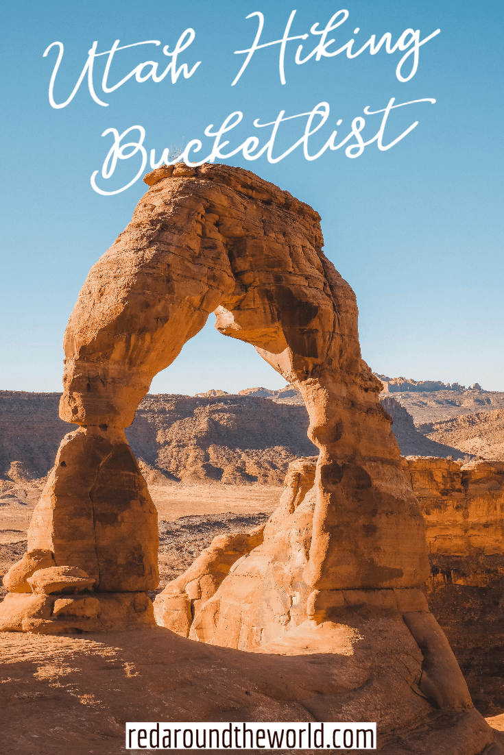 Here is the ultimate outdoor bucket list for hiking in Utah. It includes the best national and state parks as well as lesser-known hikes around Utah. This is the best Utah bucket list. Utah national parks | Utah road trip | hiking in Utah | best things to do in Utah | Utah hikes | Utah road trip ideas | national parks in Utah | utah hiking | utah bucket list | best hikes in utah | utah travel | utah vacation
