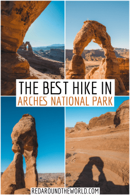 The Delicate Arch Hike is one of the best, most iconic hikes in Utah. It's a must-do on any Utah road trip. Hiking to Delicate Arch at sunrise is great. Arches National Park | hiking in Arches | what to do in Arches | best hikes in Arches Utah | Arches national park Utah | Arches national park hikes | hike to delicate arch | Utah road trip | utah national park road trip | delicate arch hike | delicate arch utah | delicate arch photography