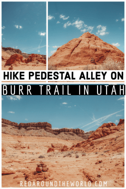 There aren't a lot of hiking trails near Bullfrog Utah, but Pedestal Alley on Burr Trail is one of the few. It's perfect for an afternoon off the lake. Utah road trip | hiking in Utah | best things to do in Utah | Utah hikes | Utah road trip itinerary | Burr Trail Utah | Burr trail hiking | pedestal alley trail | pedestal alley hike | day hikes in utah | easy hikes in Utah