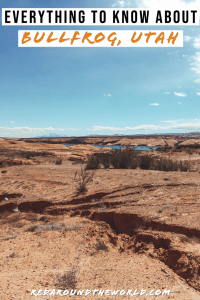 Bullfrog, Utah is at the north end of Lake Powell. While the lake is the main attraction, there are tons of awesome hikes near Bullfrog to keep you busy, too. Utah national parks | Utah road trip | hiking in Utah | best things to do in Utah | Utah hikes | Utah road trip itinerary | national parks in Utah | north lake powell | lake poweell utah | lake powell arizona | bullfrog utah | utah vacation