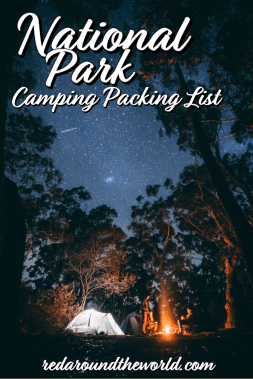 This is the perfect packing list for camping in the national parks on a road trip including the best hiking and camping gear for day hikes beginner campers. camping in the usa | camping in national parks | national park road trip | camping road trip | camping packing list | camping gear for beginners | car camping packing list | car camping gear