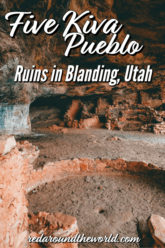 The Five Kiva Pueblo ruins in Blanding, Utah are a great place to see ruins outside of a museum. They are easy to get to and only a short hike to see. blanding utah | ruins in utah | utah hikes | hiking in utah |utah road trip | utah vacation | hikes in utah | utah things to do | blanding utah things to do