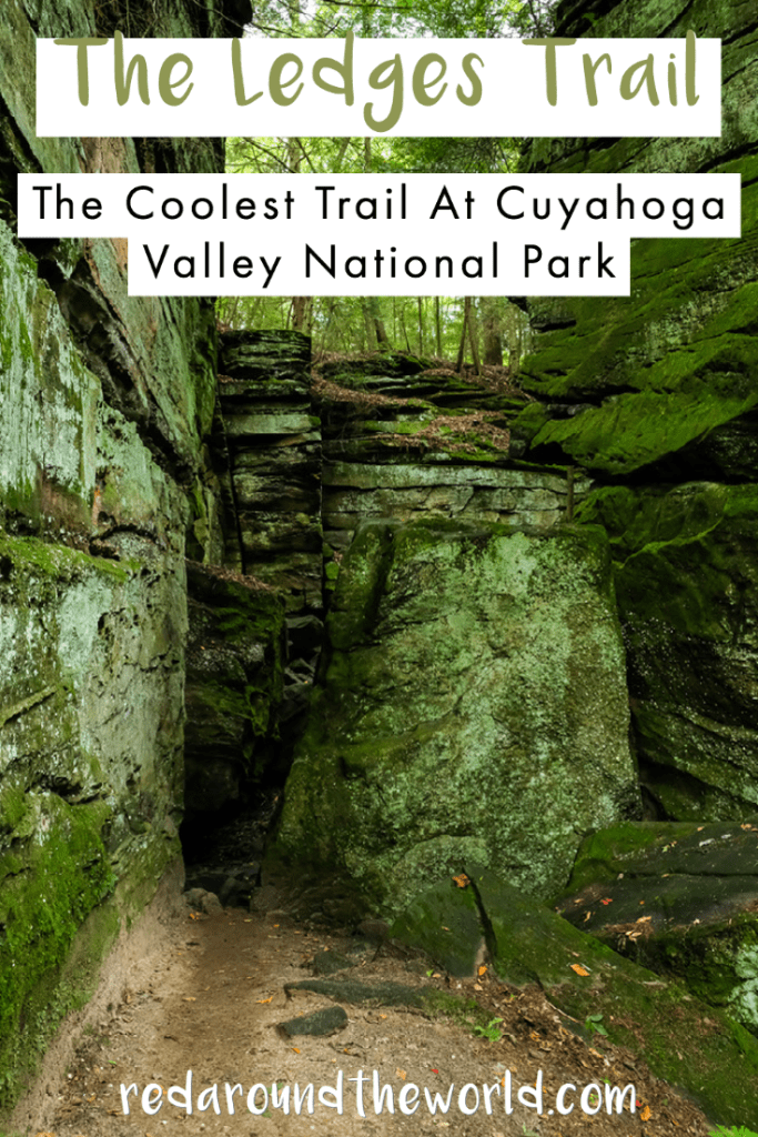 The Ledges Trail is the best hike in Cuyahoga Valley National Park. It's like hiking through a fairytale and a must-do for any trip to the park. cuyahoga valley national park | the ledges trail | Cuyahoga valley national park hiking | best national park hikes | ohio vacation | ohio things to do | midwest road trip | the ledges trail Cuyahoga valley | Cuyahoga national park