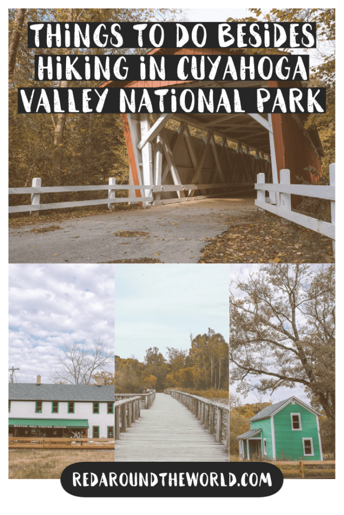 There are tons of fun things to do in Cuyahoga Valley National Park that aren't hiking no matter what you like to do. Visit farmers markets, ride the scenic train or go questing. cuyahoga valley things to do | Cuyahoga valley things to do that aren't hiking | cuyahoga national park | Cuyahoga valley national park things to do | ohio vacation | ohio travel | ohio things to do | ohio national park | Cuyahoga valley ohio