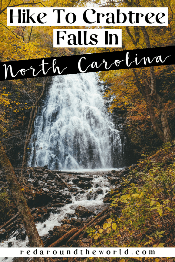 Hike the Crabtree Falls trail on the Blue Ridge Parkway in North Carolina.  This moderate trail and very fun with a rewarding waterfall. North Carolina waterfalls | north Carolina hikes | blue ridge parkway hikes | blue ridge parkway waterfalls | blue ridge parkway north Carolina | north Carolina hiking | north Carolina bucket list | north Carolina things to do | north Carolina vacation | Crabtree falls north carolina | crabtree falls loop trail | crabtree falls hike | hike crabtree falls hike | crabtree falls blue ridge parkway