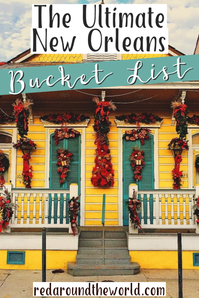 This New Orleans bucket list is perfect to help plan your trip there. There are 90 things to do in New Orleans and a whole New Orleans food bucket list, too! New Orleans food | new Orleans things to do | new Orleans travel | new Orleans vacation | new orleans food | new orleans travel ideas | new orleans bucket list | new orleans food bucket list