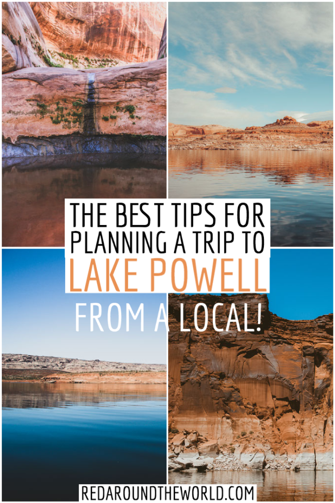 There are so many things to take into consideration when planning a Lake Powell Vacation.  These tips for visiting Lake Powell will help you have the best trip ever. lake powell trip | lake powell vacation | lake powell utah | lake powell arizona | lake powell page arizona | bullfrog utah | lake powell tips | lake powell things to do | visiting lake powell