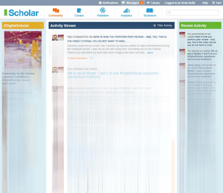 Scholar's Activity Stream