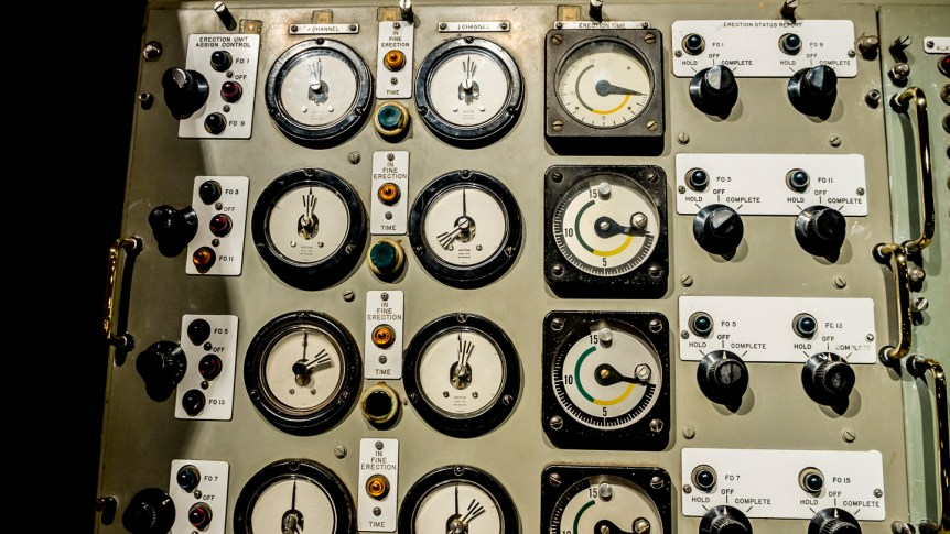 Submarine control panel. Bowfin Submarine Museum, Pearl Harbor. Personal collection.