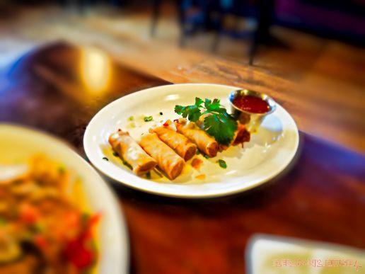 Thai chicken & duck spring rolls