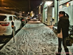 Red Bank Holiday Lights Night Snow 8 of 17