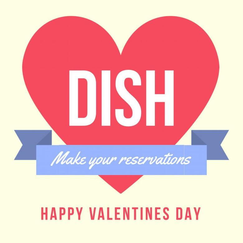 Dish Red Bank Valentine's Day
