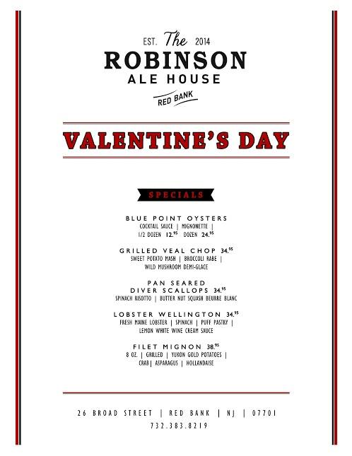 The Robinson Ale House Valentine's Day