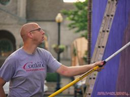 3rd annual community mural painting Indie Street Film Festival 11 of 36