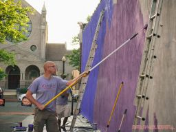 3rd annual community mural painting Indie Street Film Festival 12 of 36