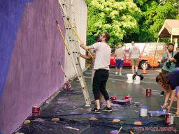 3rd annual community mural painting Indie Street Film Festival 19 of 36