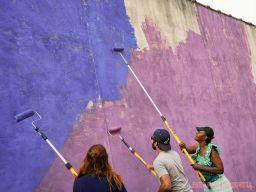 3rd annual community mural painting Indie Street Film Festival 30 of 36