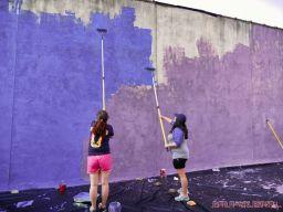 3rd annual community mural painting Indie Street Film Festival 36 of 36