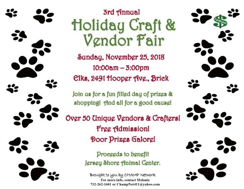 Jersey Shore Animal Center Holiday Craft & Vendor Fair