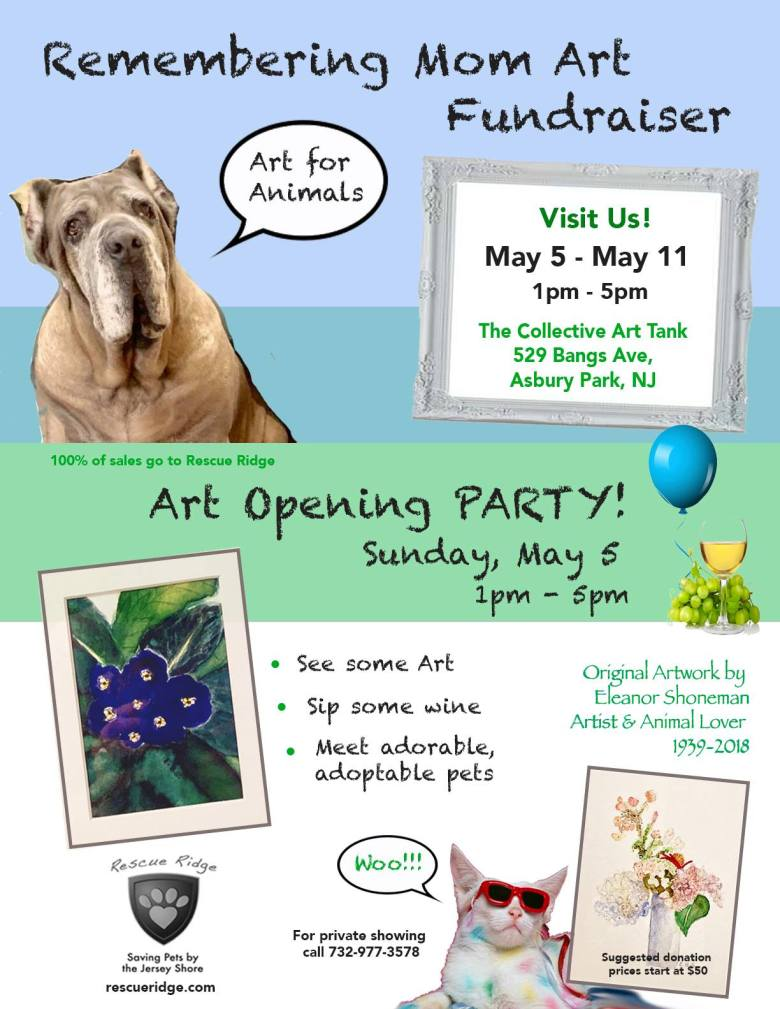 Art Opening Party Fundraiser for Rescue Ridge
