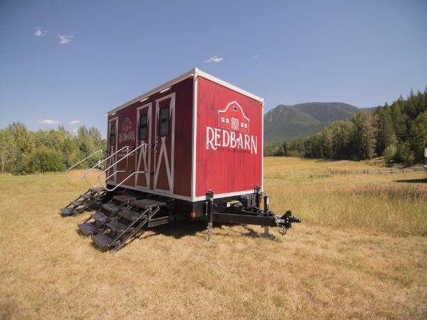 Redbarn Trailer in a Field