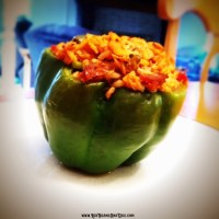 Jambalaya Stuffed Green Peppers